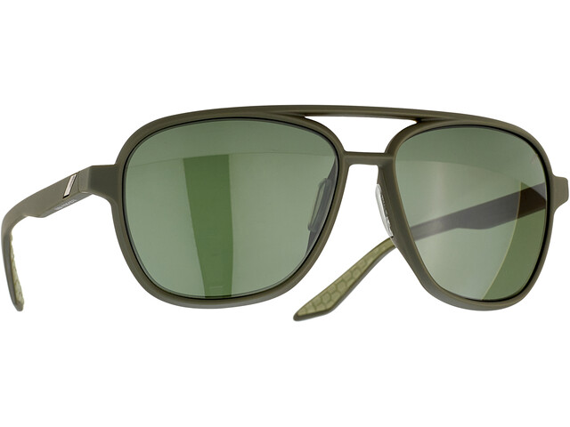 100% Kasia Aviator Round Gafas, negro/gris